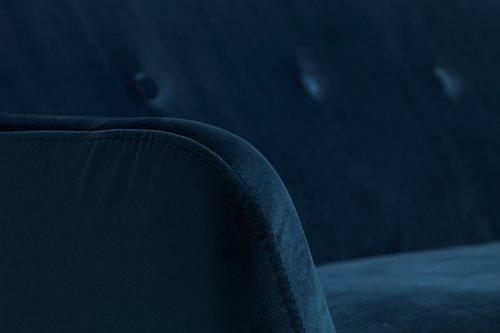 Dvosjed EGEDAL 2,5 baršun tamnoplava