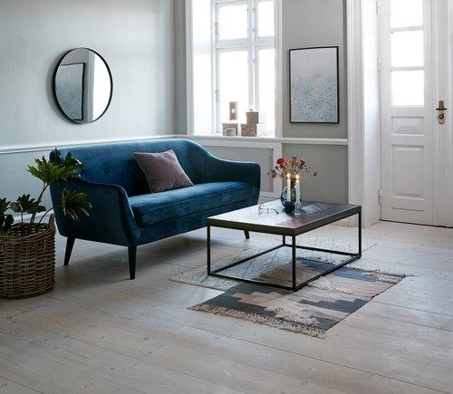 Sofa EGEDAL 2,5-pers velour mørkeblå