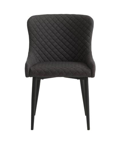 Blag. stolica PEBRINGE tamnosiva/crna