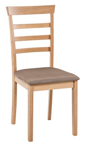 Jedálenská stolička BJERT f. buka/hnedá