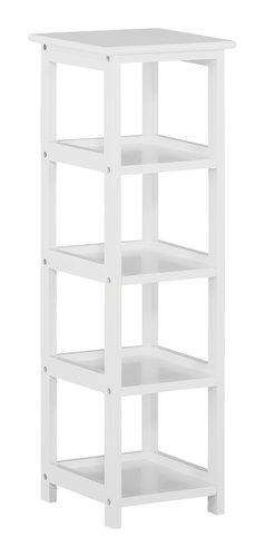 Bücherregal 4 Böden weiß