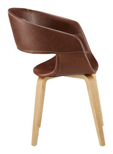 Cadeira jantar HOLSTEBRO castanho vintag