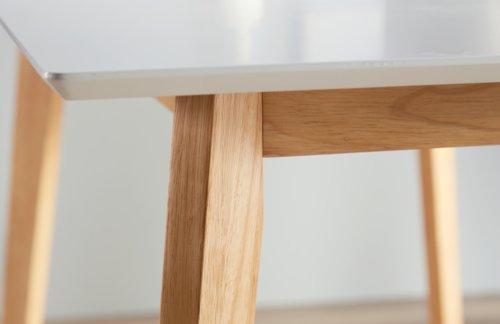 Esstisch BLOKHUS 70x120 weiß/braun