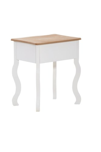 Table de nuit NYRUP naturel/blanc