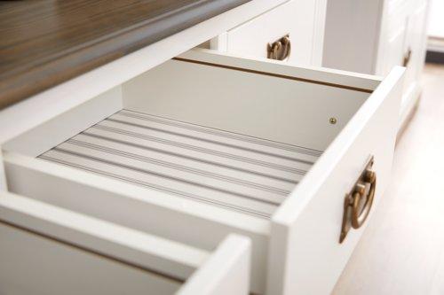 Anrichte WIEN 2 Türen weiß/braun
