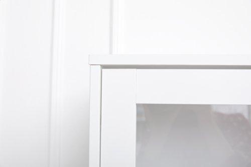 Vitrine OSLO 2 Tür. 4 Schub. Eiche/weiß