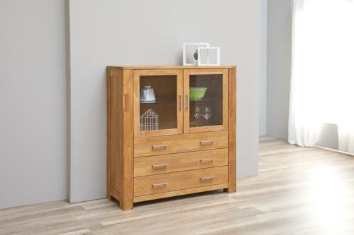 Highboard OLDE 2 Türen Eiche