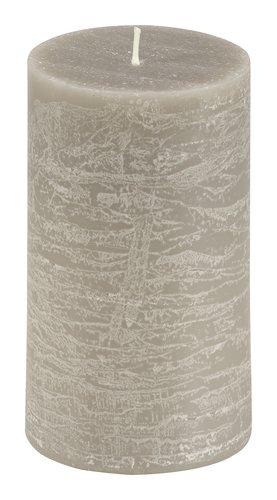 Vela pilar EILEF Ø7xA12cm gris