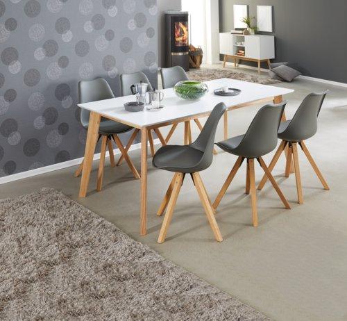 Table BLOKHUS 70x120 blanc/naturel