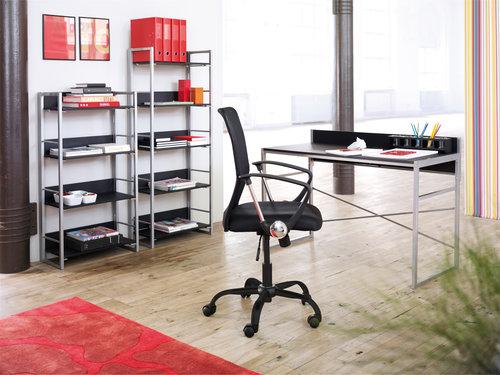 Psací stůl GELSTED 60x120 černá/stříbrná