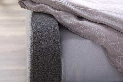 Cadre de lit EGEDAL 140x190 gris ant.