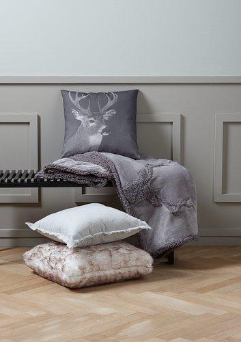 Cushion KLOKKELYNG 45x45 grey