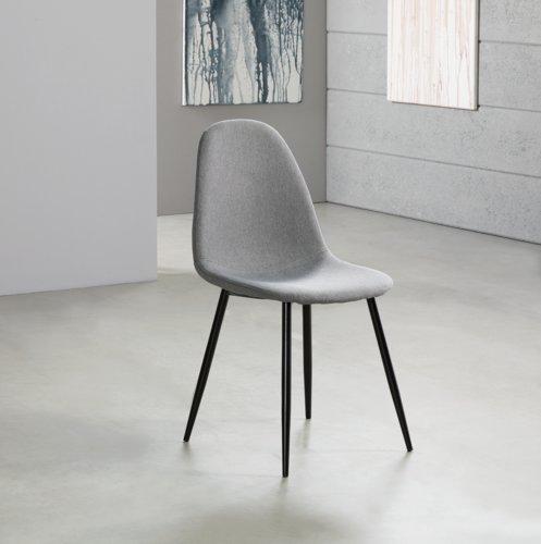 Chaise HORBELEV noir/gris foncé
