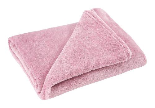 Plaid CLASSIC pile 130x160 rosa