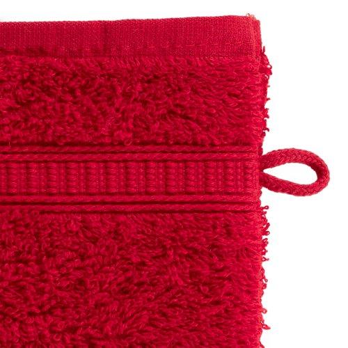 Waschhandschuh KRONBORG DE LUXE rot