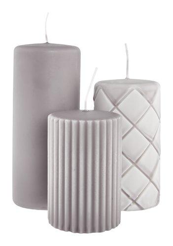 Формовая свеча ALFRED серый 3 шт.