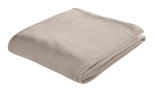 Plaid MYRFIOL pile 200x220 taupe