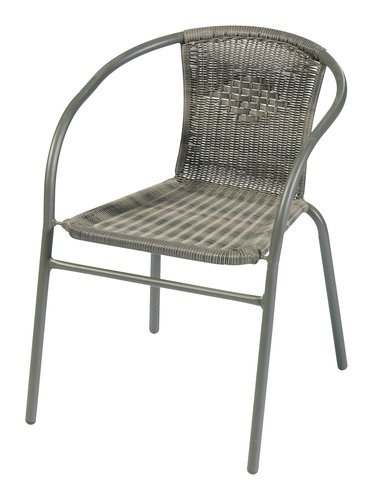 Chaise empilable GRENAA gris