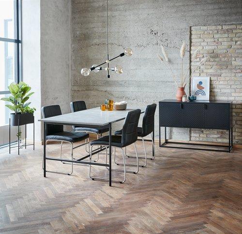 Blagovaonski stol TERSLEV 80x140 beton