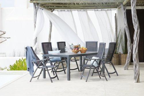 Tisch ATLANTA 100x213 grau