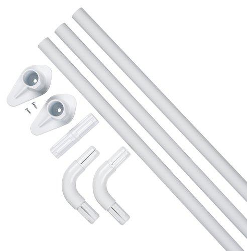 Shower curtain rail VARA 90x90x90 white