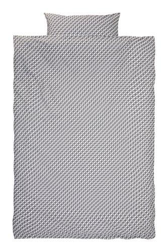 Completo copripiumino TWEED 150x200 gri.
