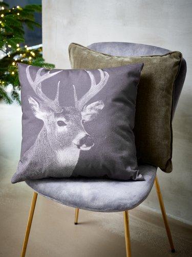 Cushion LIN 45x45 photo print/deer