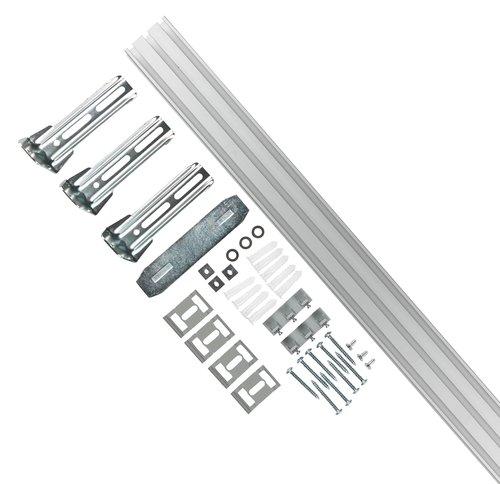 Gardinenschiene 3-Läufig 165cm silber