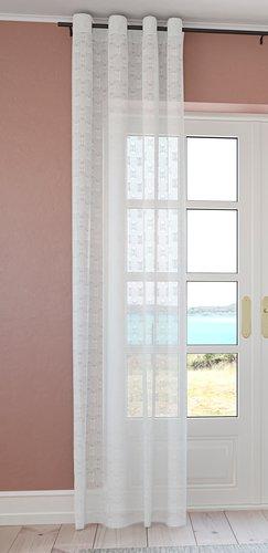 Zavesa BANDAK 1x140x300 prlj.bela