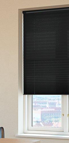 Plisségardin HOVDEN 120x160cm sort
