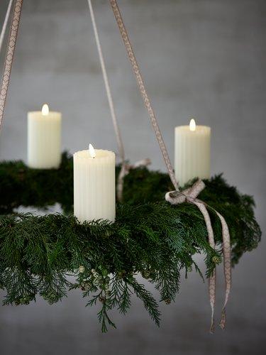 Свеча ODEN В15 см белый LED