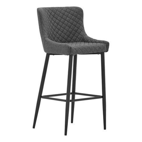Chaise de bar PEBRINGE gris