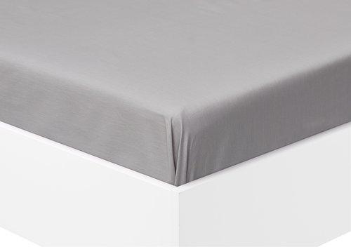 Spannleintuch 100x200x25cm grau