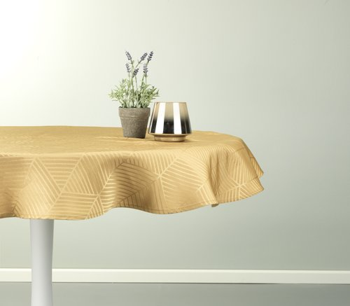 Tablecloth BLOMME D120 yellow
