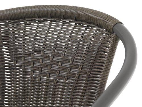 Stacking chair GRENAA grey