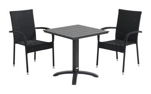 Miza HOBRO D70 + 2 stola GUDHJEM