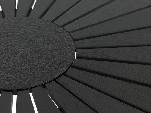 RANGSTRUP Ø110 svart + 4 BREDSTEN svart