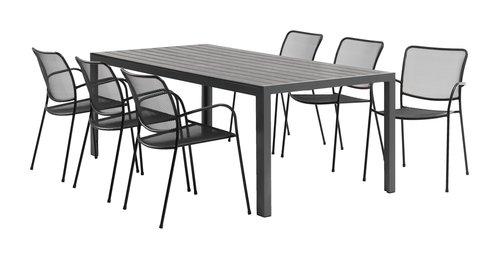 Table LAS VEGAS 100x205 noir