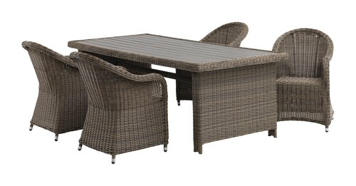 Stôl GAMMELBY Š100xD225 sivá