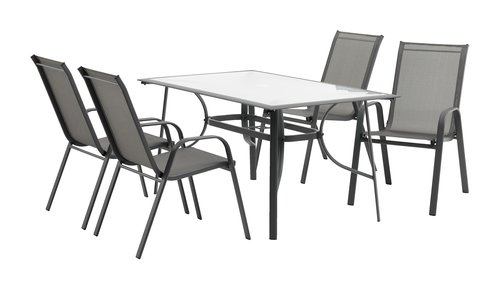 Table MEXICO 88x148 gris