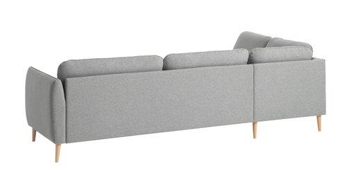 Sofa AARHUS åpen ende venstre varm grå