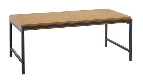 Klubska mizica TRAPPEDAL 50x100 hr./črna