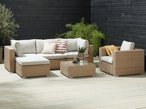 Loungeset DALL 5 pers. naturel