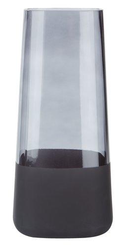 Vaso SEBASTIAN Ø13xH28cm vetro nero
