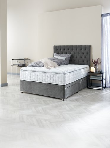 Divan 135x190 GOLD D10 4 drw Grey-50