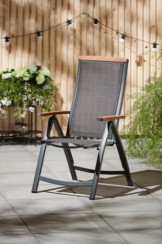 Ανακλινόμενη καρέκλα MADERNE γκρι