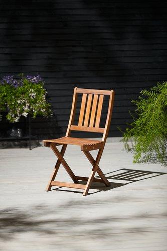 Chaise pliante EGELUND bois dur