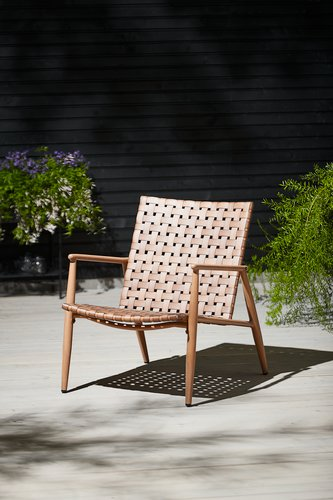 Lounge chair EDDERUP nature
