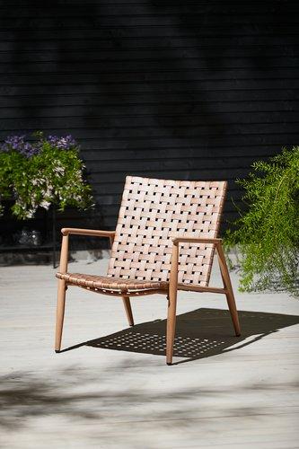 Καρέκλα κήπου EDDERUP φυσικό