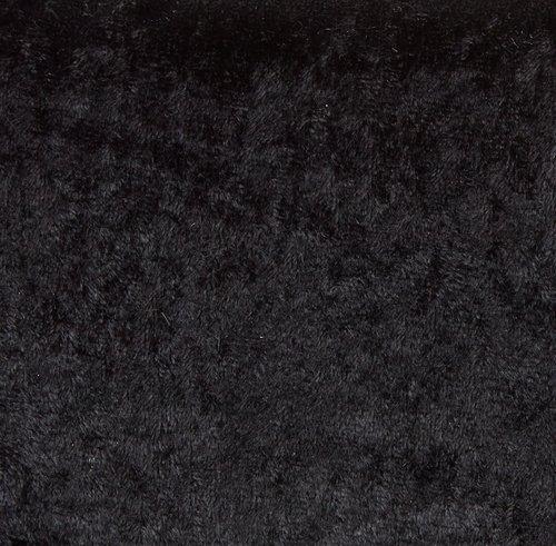 Krossad velour GNIST 3m/pk svart